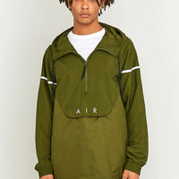 Nike Green Nylon Hybrid Pop-Over Hoodie Jacket - Urban Outfitters