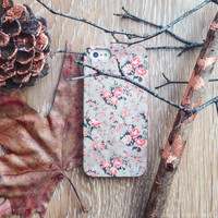 Fall iPhone 6 case floral iPhone 5 case leaves iPhone 4s case flower iphone 5 case Autumn vintage print iPhone Case