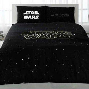 STAR WARS Full Double Queen Size Quilt Duvet Cover Set Bedding