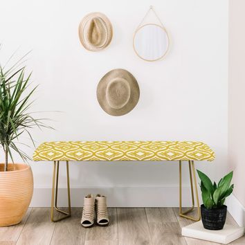 Heather Dutton Trevino Yellow Bench