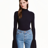 Ribbed Mock Turtleneck - from H&M