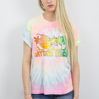 Vintage Tie Dye Daytona Beach Vacation T shirt