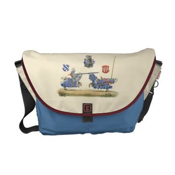 Jousting Knights - Medieval Theme Messenger Bags