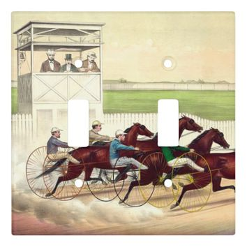 TOP Horse Racing Life Light Switch Cover