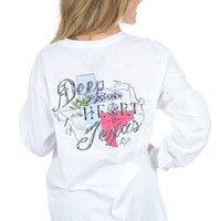 Lauren James Heart of Texas Long Sleeve Tee