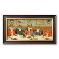 Art.com ''Mr. Fox's Hunt Breakfast'' Framed Art Print by H Neilson (Coventry Black Wide)