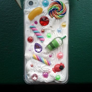 Made-To-Order Decoden Whipped Cream Candy Cabochon Cute Phone Case iPhone Samsung