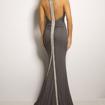 Keyhole Halter Jersey Dress 21904 - Prom Dresses