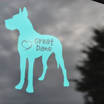 Great Dane Dog Decal