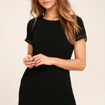 Perfect Time Black Shift Dress