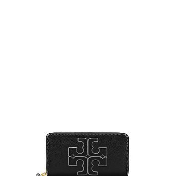 Tory Burch Contrast-logo Zip Continental Wallet