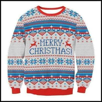 XMAS Tops Women's Ugly Sweater, Jumper, Christmas Hoodies, Pullover, Shirt, Blouse, US