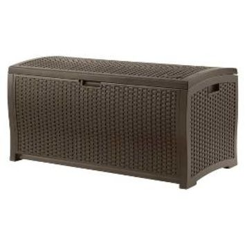 Suncast Resin Wicker Deck Box (99 Gallon)