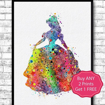 30% OFF Belle 2 Beauty and the Beast Watercolor Print Disney Art Poster Belle Illustration Kids Wall Art Nursery Art Cartoon Home Decor Wedd