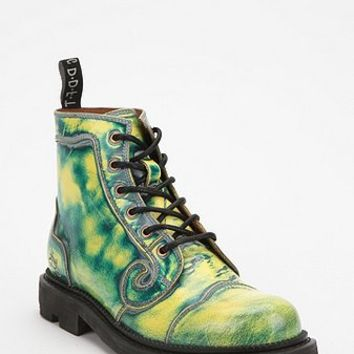 John Fluevog Swirly Leather Lace-Up Boot