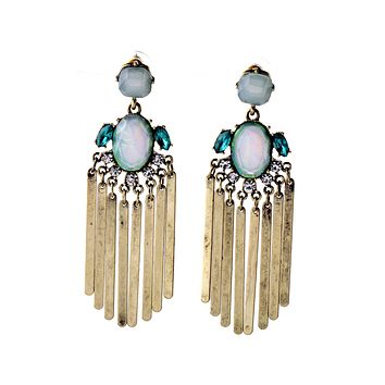 Opalescent Fringe Earrings