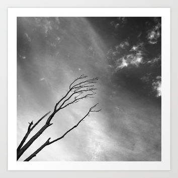 """Talking to the clouds"" BW. Art Print by Guido Montañés"