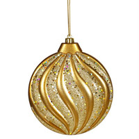 Shatterproof Christmas Ornament - Ready-to-hang On A Gold Cord