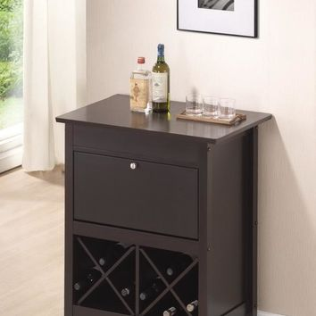 Baxton Studio Tuscany Brown Modern Dry Bar and Wine Cabinet Set of 1