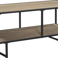 "Altra Emmett 42"" TV Stand/Coffee Table with Metal Frame, Sonoma Oak/Gunmetal Gray"