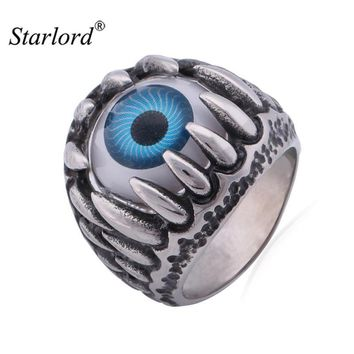 Starlord Gothic Ring For Men Vintage Fashion Jewelry & GIFT BOX  Eye Trendy Band Ring Never Fade 316L Stainless Steel Ring GR380