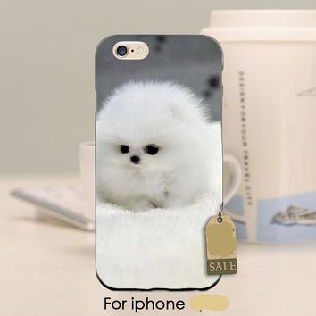 White Fur Ball Wood Phone Case For iPhone