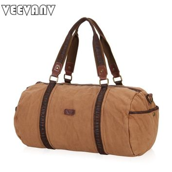 VEEVANV Women Travel Bags Crossbody Vintage Handbag High Quality Canvas Men Messenger Shoulder Bags Duffle Bag Carry on Luggage