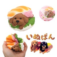 2017 New Arrivals Jumbo Hamburger Kawaii Squishy Dessert Puppy Dog Doll Bread Squeeze Slow Rising Soft Scented Cake Toys Gift
