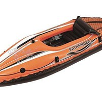 By PoolCentral 108 inch  Orange and Black  inch Pathfinder I inch  Inflatable Single Person Kayak