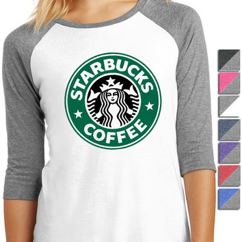 Starbucks Coffee Shirt - Ladies 3/4-Sleeve Raglan DM136L