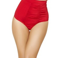 Roma USA Dance Rave Wear High Waist Red Shorts