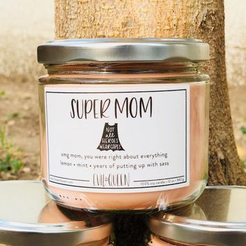 Evil Queen Candles in Super Mom Scent