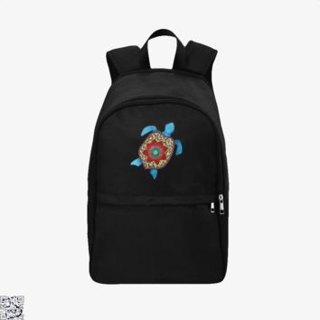Turtley Awesome Mosaic Watercolor Turtle, Sea Turtles Backpack