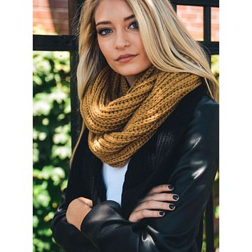 Beautiful Rust Chunky Braided Infinity Scarf
