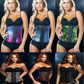 S-5XL Sexy Corset! Rubber Waist Training Corsets Women Slimming Body Shapers Female's Plus Size Waist Cinchers Hot Bodysuit