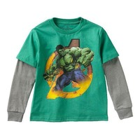 Marvel Avengers Hulk Flaming Hero Tee   Boys
