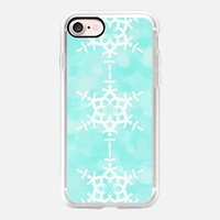 Snowflake - Aqua Blue iPhone 7 Case by Lisa Argyropoulos | Casetify