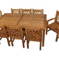 One Kings Lane - Outdoor Furniture - Teak Harvest Table & Chair Set
