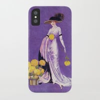 Vintage Lady from 1912 iPhone Case by digitaleffects