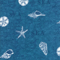 Seascapes Twill by Deb Strain for Moda Fabrics, Navy