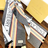 Burberry women's versatile warm long shawl scarf
