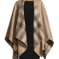 Charlotte Check Cape, Smoked Trench - Burberry - Smoked trenched