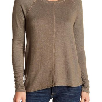 Michael Stars | Crew Neck Elbow Patch Sweater | Nordstrom Rack