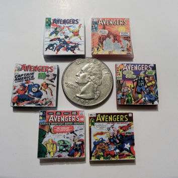 The Avengers Vintage Comic Book Covers Glass Tile by myevilfriend