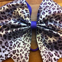 "Cheer bow 3"" metallic animal print bow"