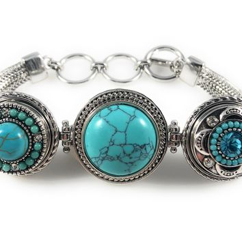 Chunk Snap Metal Bracelet for 3 Snaps Includes 3 Snaps Shown Fits Ginger Snaps