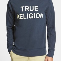 Men's True Religion Brand Jeans Trim Fit Crewneck Sweatshirt