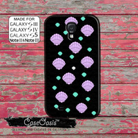 Seashell Pink And Mint Color Pattern Mermaid Cute Tumblr Custom Galaxy S5 and S4 and S3 Case and Galaxy Note 2 and Note 3 Case
