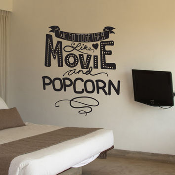 Vinyl Wall Decal Sticker Movie and Popcorn #OS_DC590