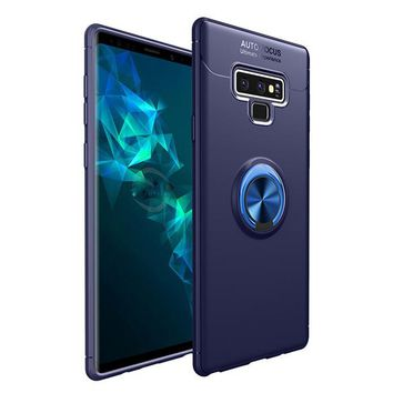 Lux Armor Metal Ring Holder Full Protective Cover For Samsung Note 9